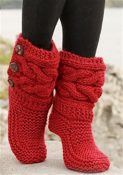 knitting patterns for slipper boots free knitted crochet slipper boots patterns