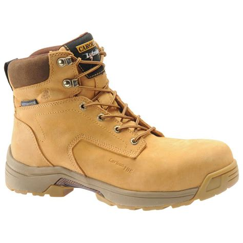 mens composite toe work boots s carolina 174 wheat 6 quot lightweight composite toe work
