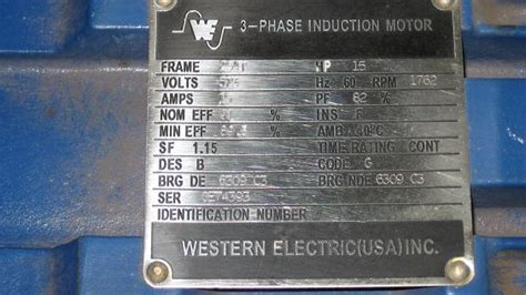western electric motors two 2 3 phase induction motors