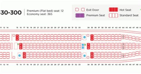 airasia airbus a330 seat plan air asia airlines airbus a330 300 aircraft seating chart