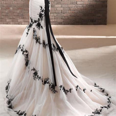 white wedding dresses uk black and white wedding dress 1921312
