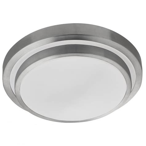 Aluminium Ceiling Lights Led Flush Bathroom Ceiling Light With Aluminium Trim And White Shade