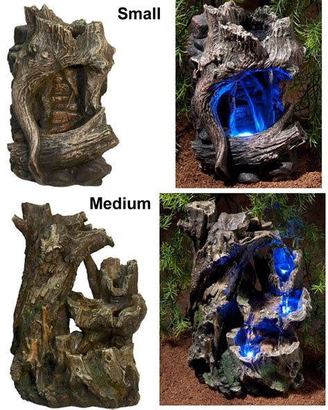 led lights for snake tank zoo med repti rapids waterfall led lights wood reptile