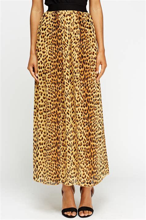 leopard print maxi skirt yellow multi just 163 5