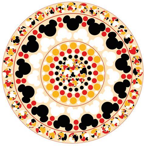 pattern work mandala minnie mouse head by joanne mickey mouse pattern mandela on behance