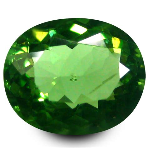 Green Apatite 1 47 Ct 1 47 ct sparkling oval cut 8 x 7 mm un heated green