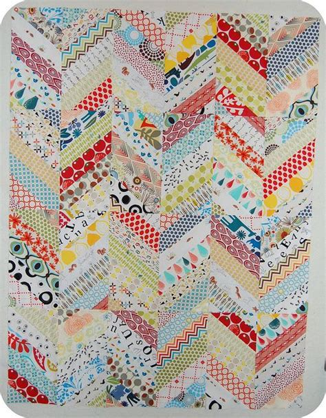 Chevron Pattern Quilts by Great Scrap Quiltchevron Patterns Scraps Quilt Baby Quilts String Quilt Scrappy Chevron