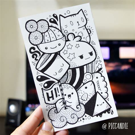 easy doodle drawings piccandle zainab deviantart