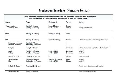 Production Business Plan Template