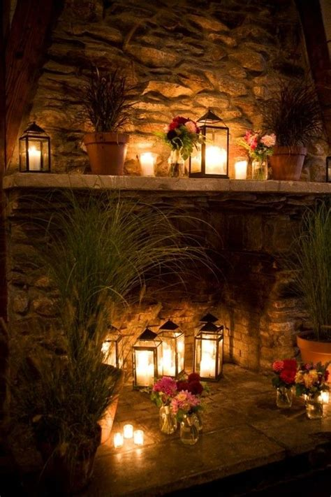 candles in fireplace images 25 best ideas about candle fireplace on