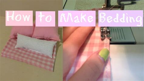 how to make a barbie bed how to make bedding for a doll bed easy youtube