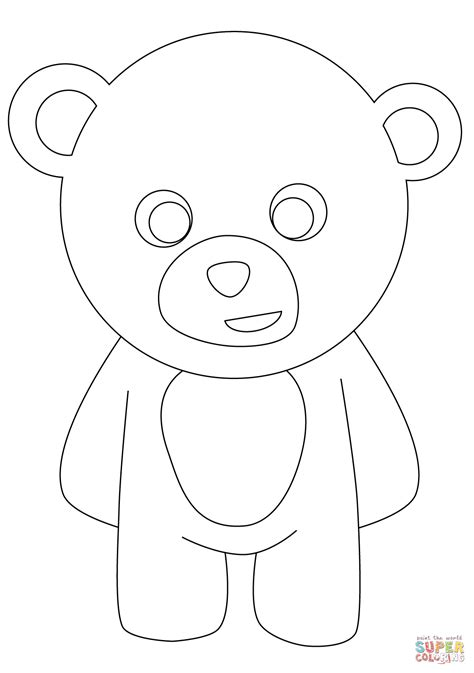 simple bear coloring page simple teddy bear drawing coloring pages