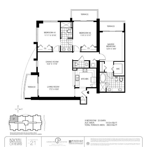Brickell On The River South Floor Plans | brickell on the river condo floor plans