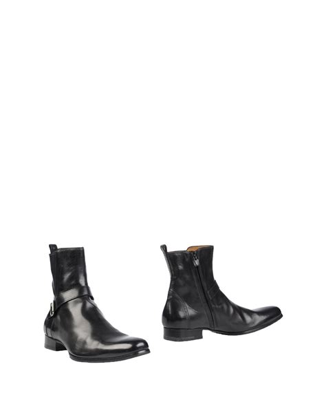 costume national mens boots lyst costume national ankle boots in black for
