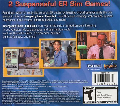 emergency room code 3 emergency room code code blue 2x er doctor sim pc new 705381244707 ebay