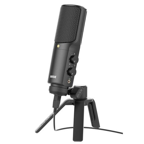 Usb Microphone rode nt usb usb condenser microphone at gear4music