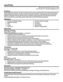 radiologic technologist resume sles cover letter for x technologist