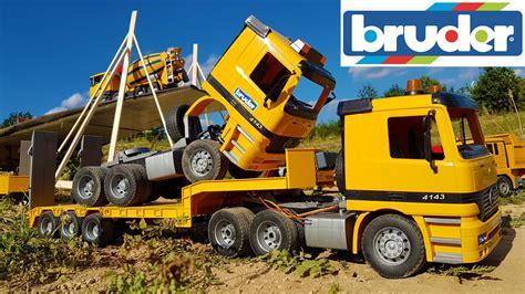 bruder toys logo rc bruder truck total crash