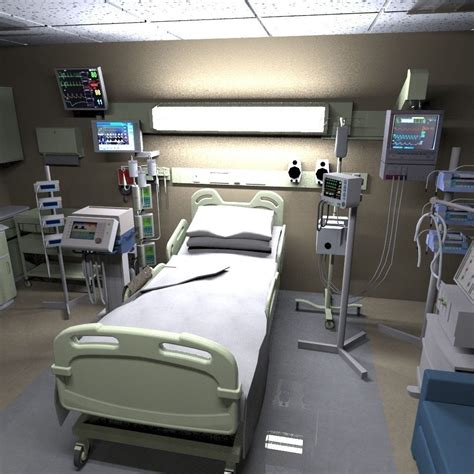 Recovery Room by 3d Model Hospital Recovery Room Vr Ar Low Poly Fbx Ma