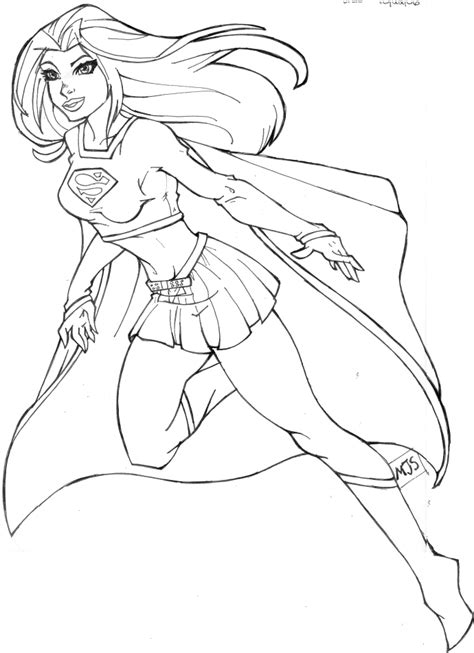 Superwoman Coloring Pages supergirl coloring pages to and print for free