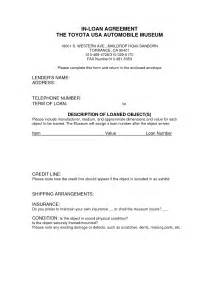 Auto Loan Contract Template Free by Free Printable Loan Agreement Form Form Generic