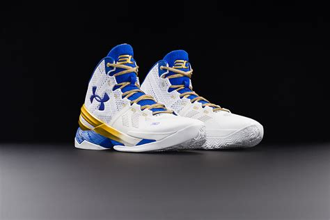 steph curry gold shoes armour curry two gold rings kicks slamonline