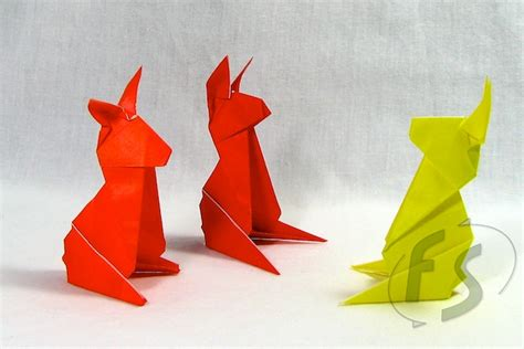 Origami Animals Rabbit - origami animals great inspiration for my geometric flower
