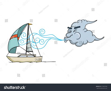 Designer News Guess Whos Blowing Into The Windy City Second City Style Fashion by Cloud Blowing Wind Into Sail Stock Vector