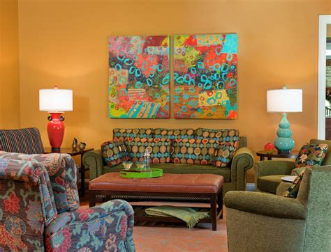 bethesda home celebrating vibrant color and pattern eclectic living room dc metro by