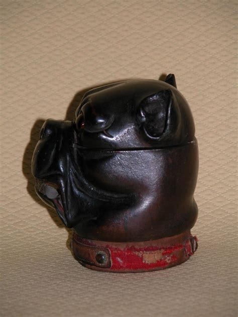 pug or bulldog carved wood inkwell in form of pug or bulldog at 1stdibs