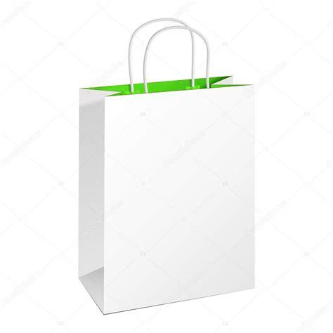 plantilla para bolsa de papel imagui proyectos carrier paper bag white green illustration isolated on