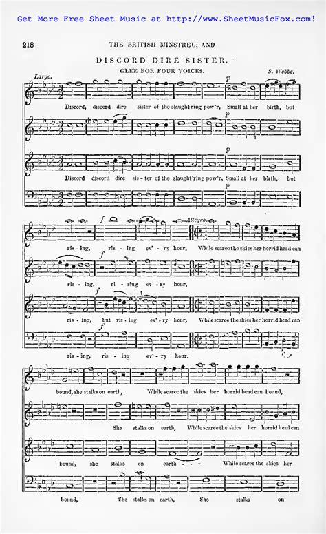 discord music free sheet music for discord dire sister webbe samuel