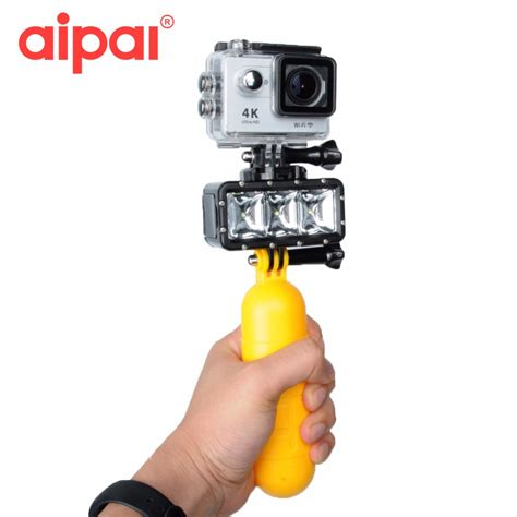 Led Flash Xiaomi Yi 35m underwater diving accessories kit set waterproof led flash light for gopro 4 3 3