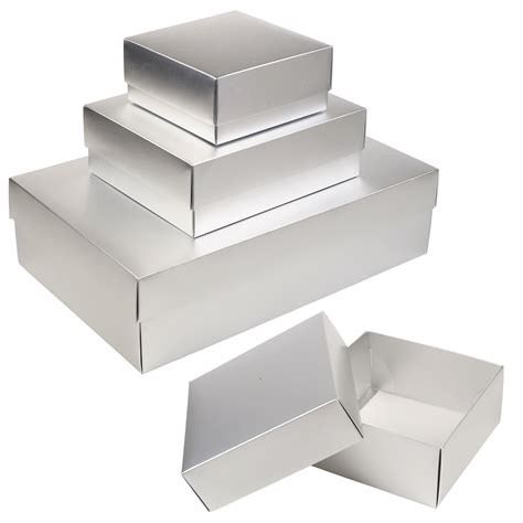 card matte silver gift boxes occasion presentation