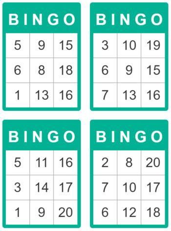 printable children s number bingo cards bingo cards for kids