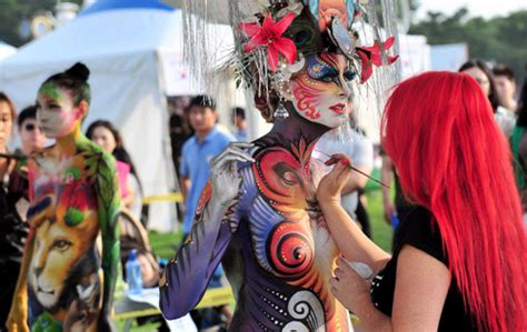 daegu painting festival 2015 mystic korea 2012 international bodypainting festival in