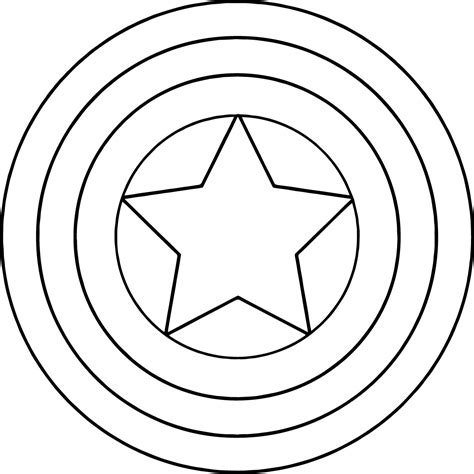 captain america shield coloring pages getcoloringpagescom