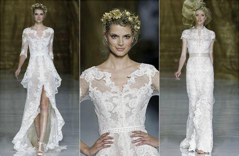 imagenes vestidos de novia con encaje tendencias 2014 vestidos de novia con detalles de encaje