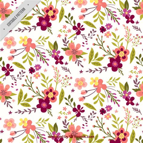 flower pattern vintage free download pretty vintage floral pattern vector free download