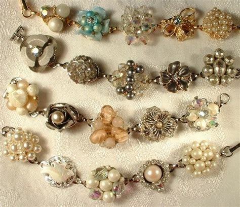 how to make fashion jewelry bracelets made with vintage earrings i been