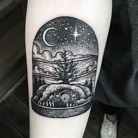 bell jar tattoo hobbit house in bell jar btattooing blacktattooing