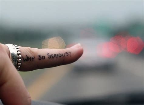 batman tattoo finger 1000 images about why so serious tattoo on pinterest