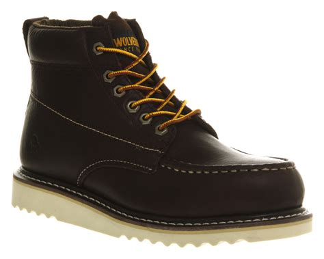 mens wolverine apprentice wedge boot choc leather boots ebay