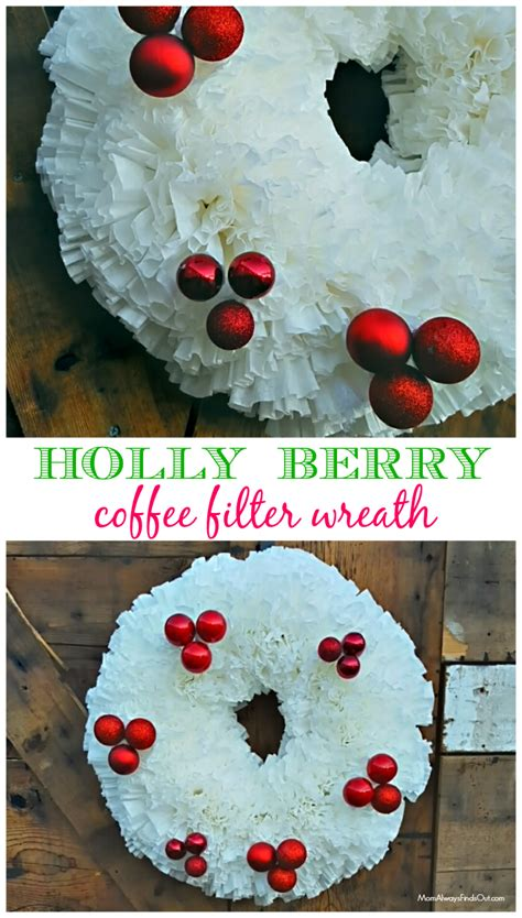 pinterest christmas made out of tulldecorating ideas wreath ideas how to make a coffee filter wreath