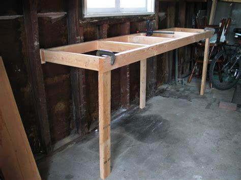 how to build a garage bench garage workbench