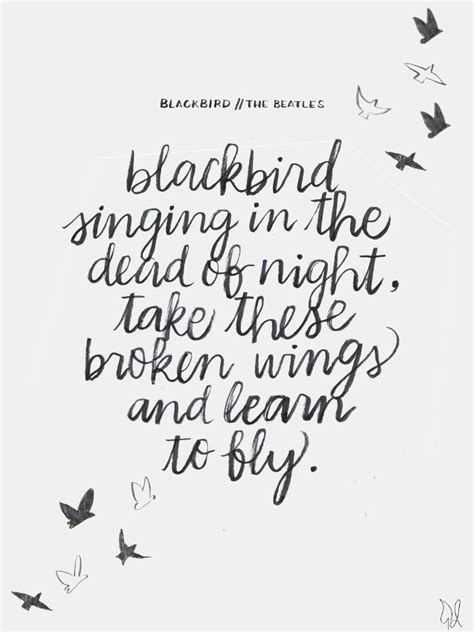like a tattoo lyrics blackbird singing in the dead of take these