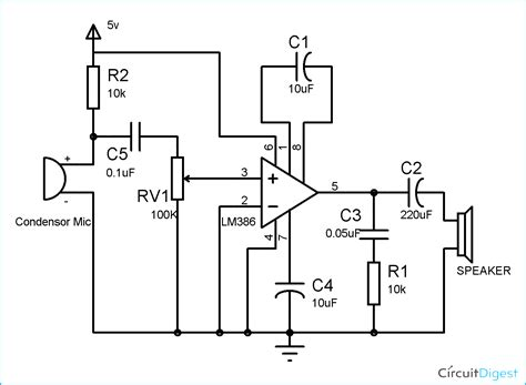 transistor lifier circuits pdf component lm386 audio lifier circuit diagram simple intercom pdf easy wireless with ringer