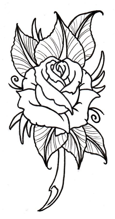 rose tattoo stencils free designs clipart best