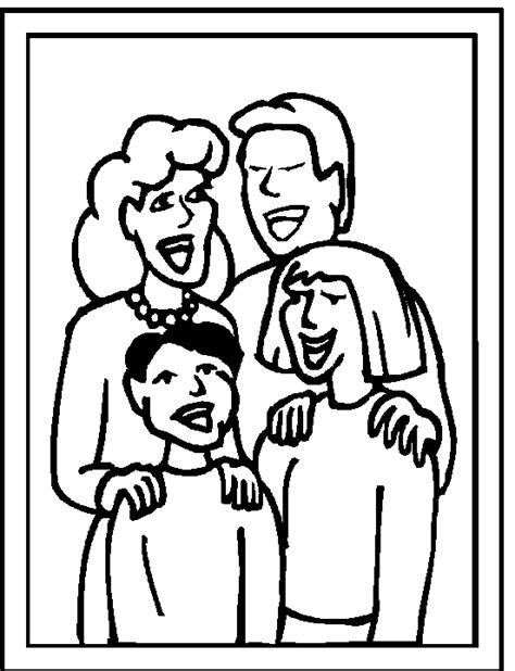 coloring page of family family coloring pages 03
