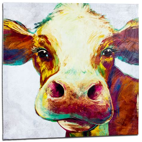colorful cow painting colorful cow painting paint color ideas